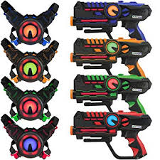 Buy Armogear <b>Infrared Laser Tag</b> Guns and Vests (0.9 mW) Set of 4 ...