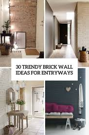 washed brick wall bedroom  trendy brick wall ideas for entryways