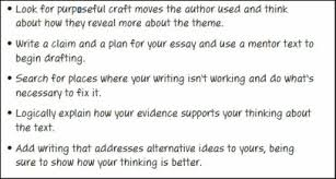 thematic essay   th grade l a resources and examples