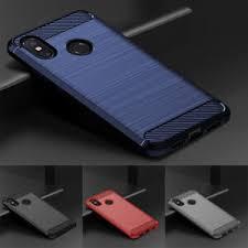 For Huawei Y6 Y7 Pro Y9 <b>2019</b> Shockproof <b>Carbon Fiber Silicone</b> ...