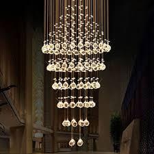 BYB® Modern Chandelier Rain Drop Lighting Round Crystal Ball ...