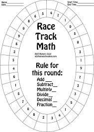 Race Track Math Board - Worksheet for Practicing Math Facts | A2Z ...Click to get printable graphic.