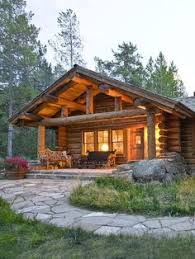 ideas about Small Log Homes on Pinterest   Log Homes  Log    Log Cabin in the Woods   Log cabin in the woods     Dream Home