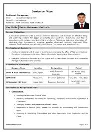 cv sudheesh senior document controller