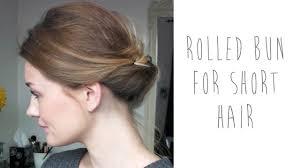 <b>HAIR</b> TUTORIAL: ROLLED BUN FOR <b>SHORT HAIR</b>   tinytwisst ...