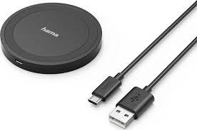 Беспроводное <b>зарядное устройство Hama</b> 173674, 1A, 5W, черный