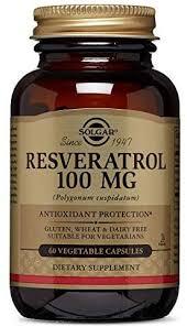 Solgar - Resveratrol 100 mg, 60 Vegetable Capsules ... - Amazon.com