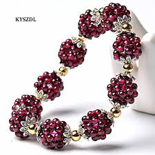<b>KYSZDL</b> Hot Sale High quality <b>Natural</b> garnet bracelet fashion ...