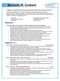 executive producer resumes template executive producer resumes