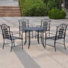 patio dining: international caravan mandalay  piece wrought iron patio dining set