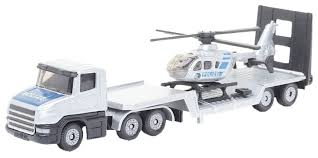 Набор <b>машин Siku Грузовик</b>-тягач с вертолетом (1610) 1:87 ...