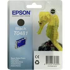Оригинальный <b>картридж Epson T0481 Черный</b> (<b>Black</b>) [Морской ...