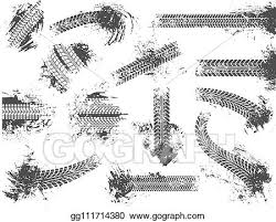 Vector Clipart - <b>Dirty tire</b> tracks. grunge motor race track, <b>wheel</b> tires ...
