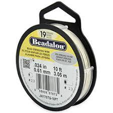19 Strand <b>Bead</b> Stringing Wire, .<b>925 Sterling Silver</b>, .024 in (0.61 mm ...