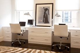 metropolitan chic in bostons tony back bay contemporary home office idea in other with dark hardwood chic lshaped office desk