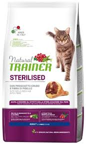 <b>Корм</b> для кошек <b>TRAINER Natural</b> Adult cat Sterilised Dry-Cured ...
