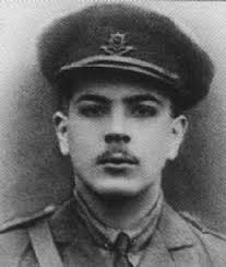 Lieutenant Roland Aubrey LEIGHTON, born March 1895. Educated: Uppingham School. Won a place at Merton College, Oxford, in January 1914. - Lieut_R_A_Leighton