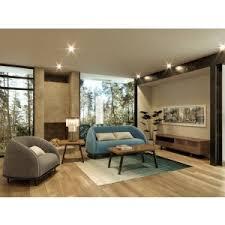 blue sofas living room: divani casa amisk modern teal amp grey fabric sofa amp chair set