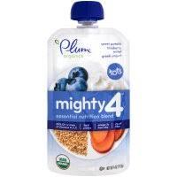 Plum Organics Baby Food <b>Tots Mighty 4</b> Blue 4oz Pouch | Garden ...