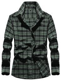 <b>Men's</b> Lattice Design Shirts - Dark Forest Green M