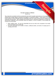 printable receipt of share certificate legal forms printable receipt of share certificate legal forms