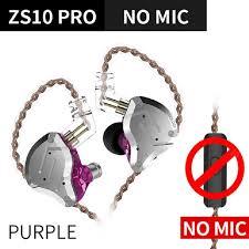 KZ ZS10 Pro Metal Headset 4BA+1DD Hybrid 10 Drivers HIFI Bass ...