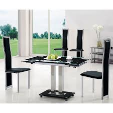 round glass extendable dining table:  modern extendable glass dining tables for contemporary dining room decoration unique black glass extendable dining