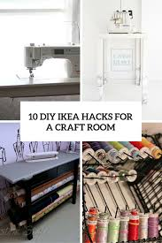 10 diy ikea hacks for a craft room cover awesome craft room