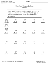 Thanksgiving Addition Worksheet Set for First GradeSnapshot image of Thanksgiving Addition Worksheet 4 from www.tlsbooks.com