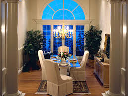 staged dining room a