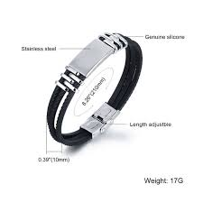 Three Layers <b>Silicone</b> Wrap Bracelets For Man <b>Simple</b> Design ...