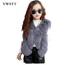 Imitation Fur Vest <b>Children</b> Girls <b>Autumn Winter Warm</b> Thick Fur Vest ...