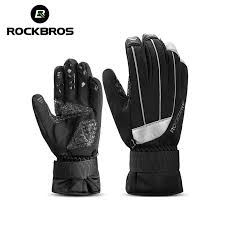 ROCKBROS Bicycle <b>Winter Waterproof Touch Screen</b> Bike Gloves ...