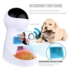 Iseebiz Wifi <b>Automatic Cat Feeder 3L Pet Food Dispenser</b> Feeder ...
