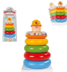 <b>Пирамидка Pilsan Весёлые кольца</b> купить в интернет-магазине ...