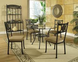 Round Glass Dining Room Table Dining Room Cheerful Dining Room Decoration With Round Glass