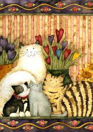 Cats in the Parlor - Decorative Art Flag from Toland Home Garden ...