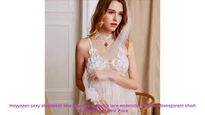 <b>Hoyyezen sexy sleepwear</b> new <b>pajamas women's</b> lace embroidery ...
