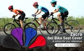Zacro Gel <b>Bike Seat Cover</b>- Extra Soft Gel <b>Bicycle Seat Cushion</b> ...