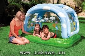 <b>Детский</b> надувной <b>бассейн</b> 'Тенистый <b>пляж</b>' 163х112х102х15см ...