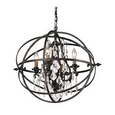 awesome modern crystal orb pendant chandelier light in bronze finish for cage chandelier chandeliers and pendant lighting