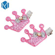<b>M MISM 2 PCS</b> New Design Girls Crown Hairclips Cute Gold Color ...