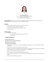 objective in resumejob objectives in resume