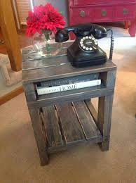 reclaimed wood pallet end table buy pallet furniture design plans