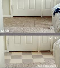 how to paint a small bathroom the moon and me painting a tile floor tips and grumbles