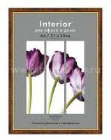 <b>Рамка Interior</b> Office 582 <b>21х30см</b> пластик орех темный (5-07389 ...