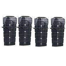 Flexible Painel <b>Solar 12v</b> 25w 4 Pcs <b>Solar Panels</b> 100w <b>Solar</b> ...