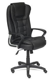 <b>Кресло BARON кож</b>/<b>зам</b>, черный/черный перфорированный, 36-6 ...