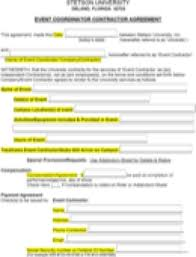 event coordinator contractor agreement event planning contract templates