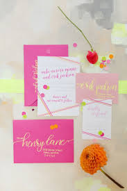 17 best ideas about pink wedding stationery gold when i caught a glimpse of these chic neon wedding ideas from jessica haley photography